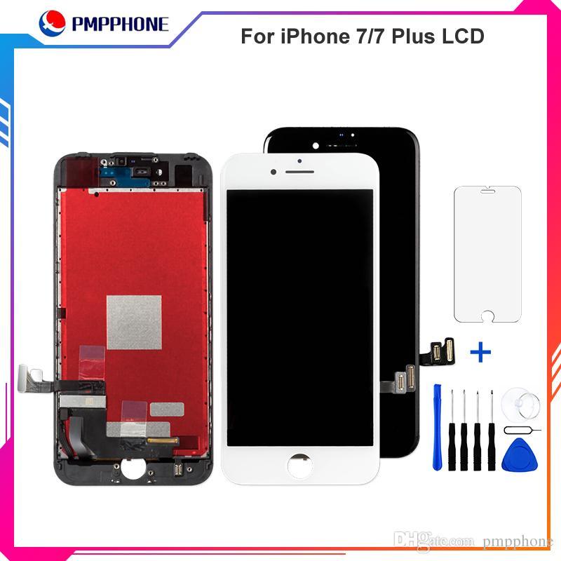 عالية الجودة Tianma التحويل الرقمي لفون 7 شاشات الكريستال السائل وبالنسبة لفون 7 زائد شاشة LCD تعمل باللمس شاشة عرض محول الأرقام الجمعية