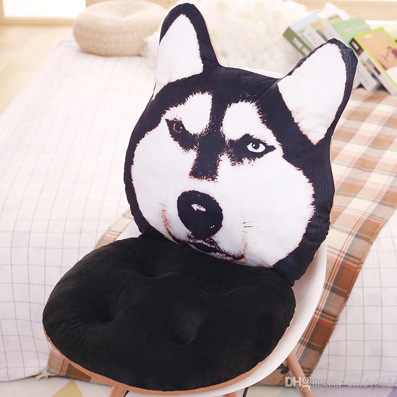 Dog Shape Seat Cushion For Home Decor Cute Cartoon Chair Pad Car Seat Cushion Office Chair Pillow Thicken Buttock Mat almofada