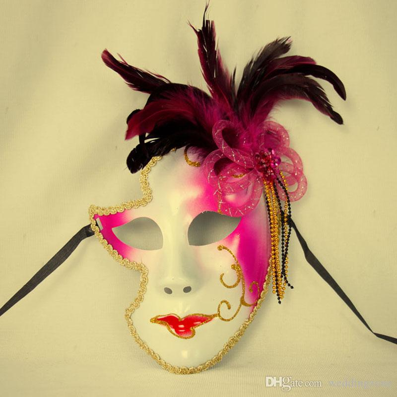 Venice Mask Halloween Male/Female Mask Personality Gifts Clown Masquaerades Italy Style Venetian Full Face Masks for Festival ightClub