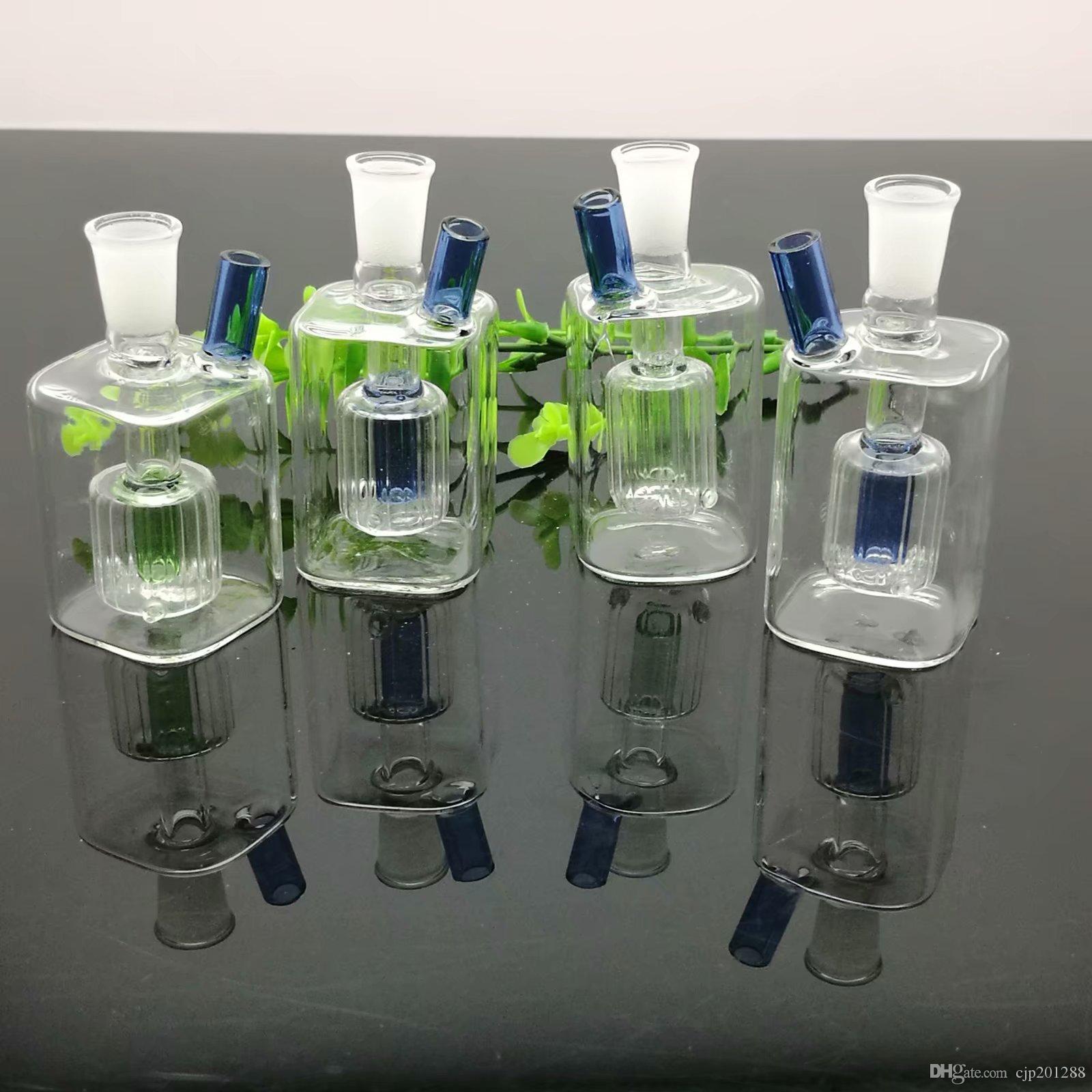 Mini quadrado pote de vidro garrafa de água Atacado Bongos Queimador de Óleo de Tubos de Água Tubos De Vidro Tubo de Petróleo Plataformas Petróleo Óleo