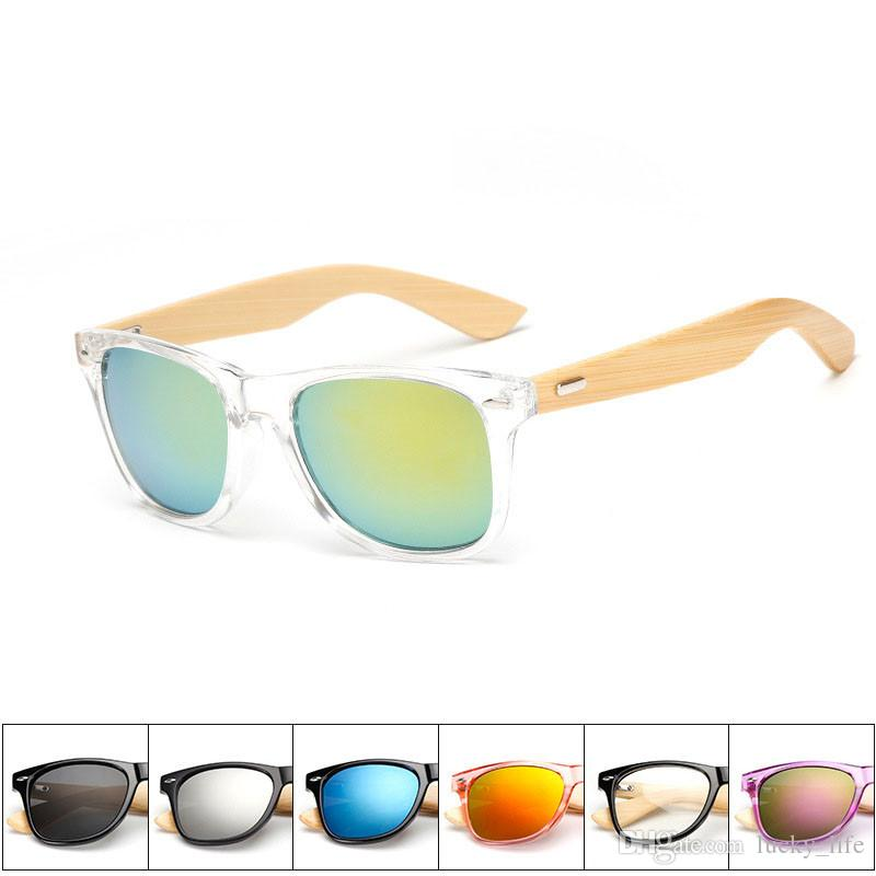 2018 модные бамбуковые солнцезащитные очки для ног мужские женские деревянные бамбуковые солнцезащитные очки для мужчин, женщин дорожные очки солнцезащитные очки винтажные очки