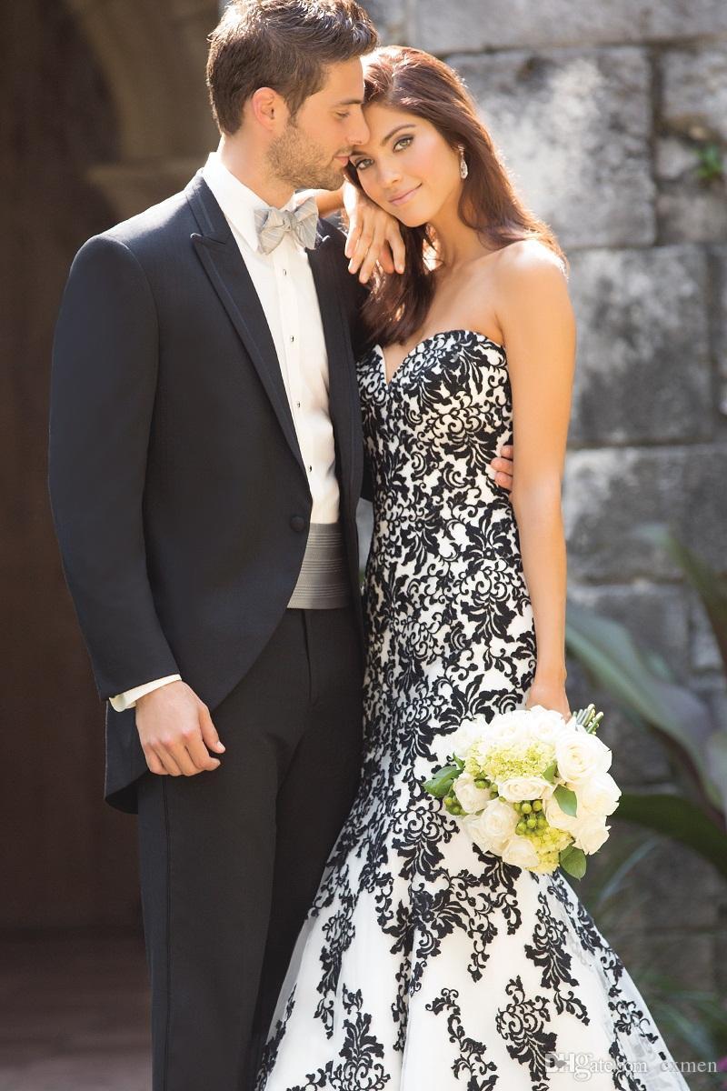 Custom Made Black Men Suits for Wedding Groom Peaked Laple Men Blazer Tuxedos Formal Prom Groomsmen 2 Pieces Jacket+Pants