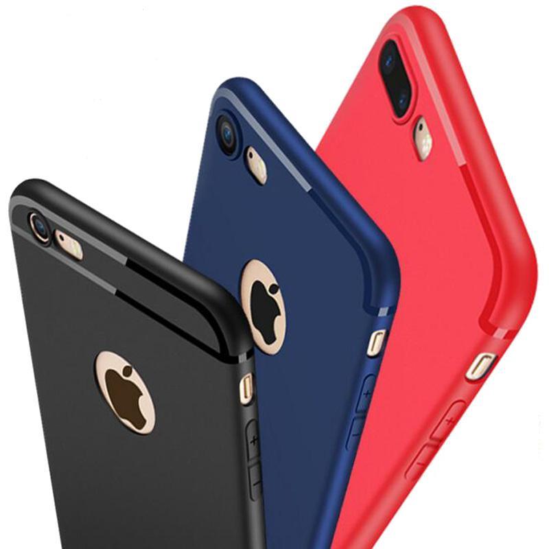 Housse Pour Mobile Bonbons Couleur Noir Rose Rouge 360 Silicone Téléphone Case Couverture Fundas Coque Pour Iphone 6 S 7 7 Plus 6 S 6 Plus 8 8 Plus ...