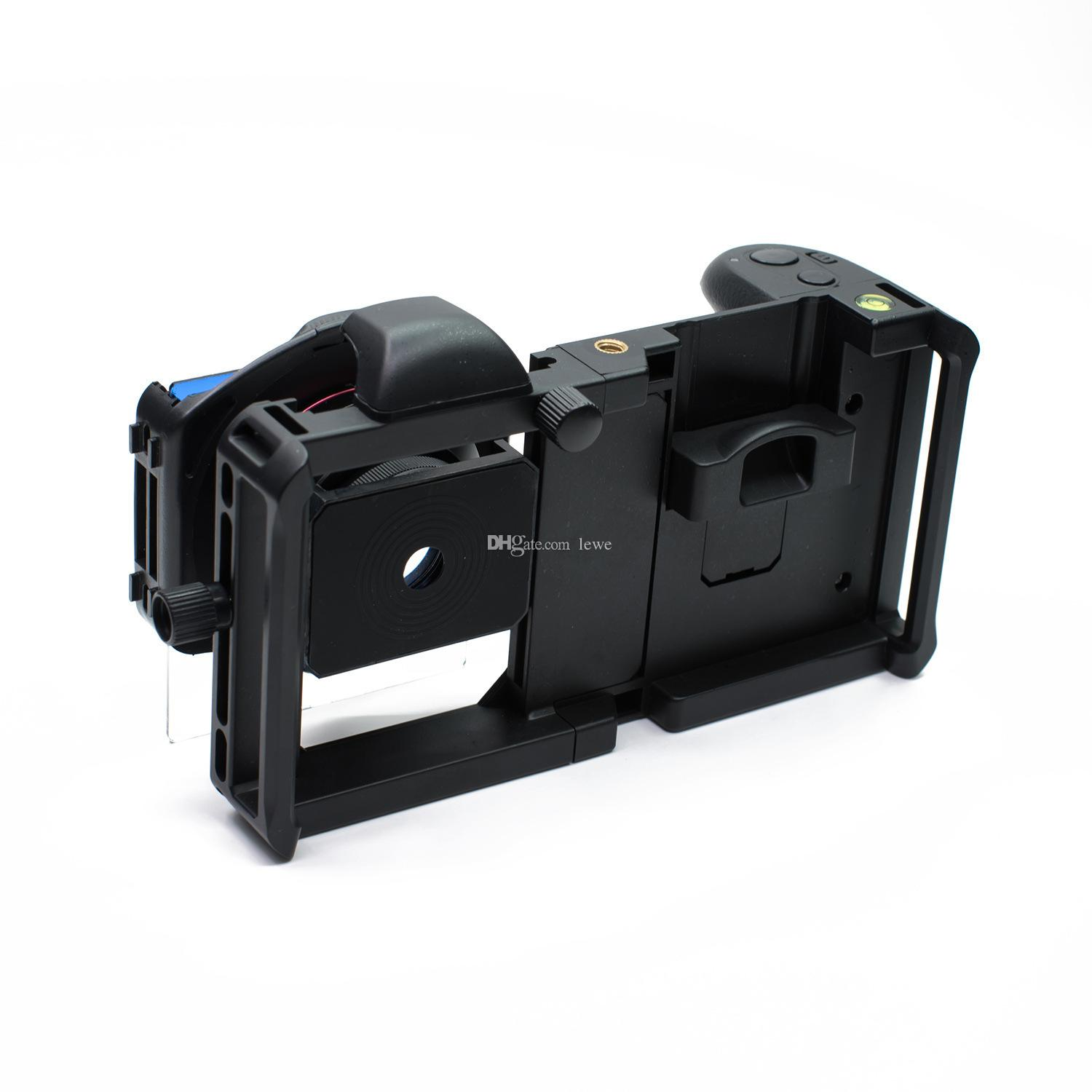 2018 Brand new mobile phone universal SLR photography bracket set wide-angle macro 2in1 lens