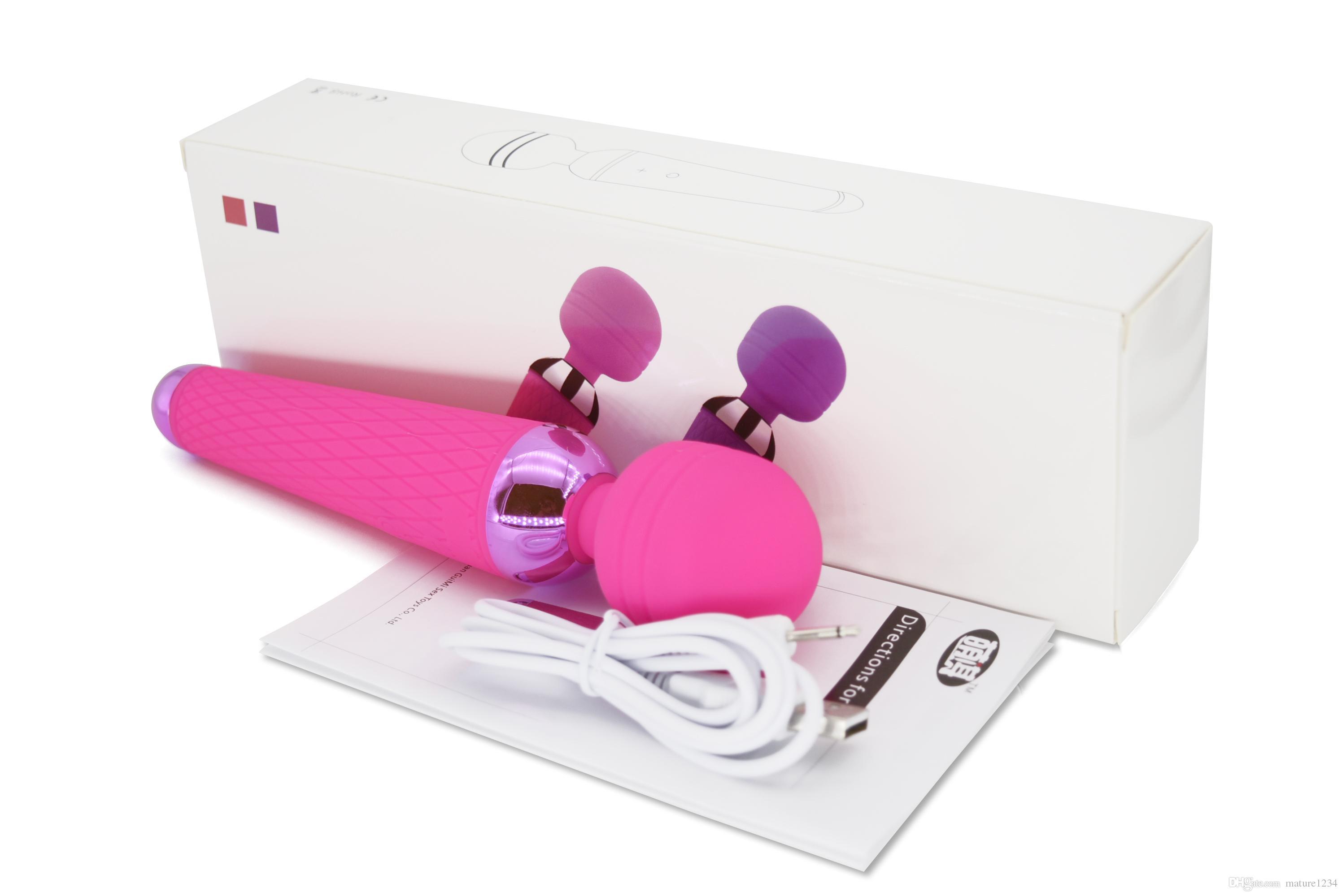 New 2021 Взрослый G-Spot Вибраторы Оральная Женщина 10 Скорость USB Перезаряжаемый AV Для Игрушки Для Волшебных Клитов Секс Палочка Вибратор Женщины Массажер Axiit