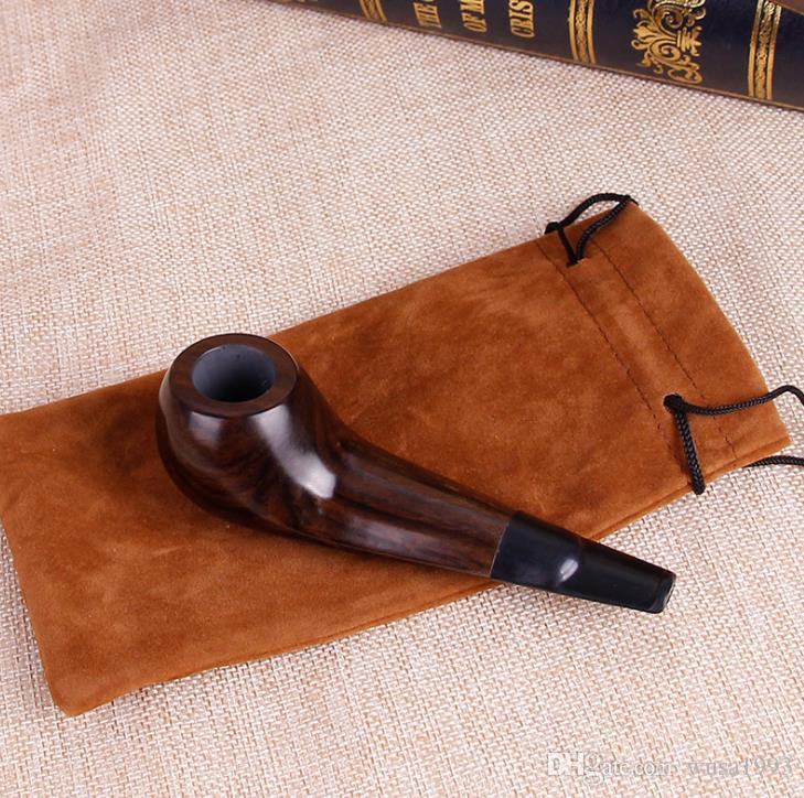 Novo palmito, madeira de ébano, tubo de filtro de tipo reto, tubo pequeno de estilo antigo de madeira.