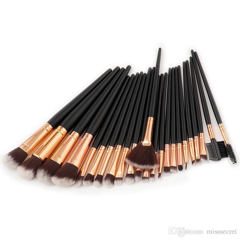 24 Adet Profesyonel Makyaj Fırçalar Seti Pudra Fondöten Göz Farı Makyaj Fırçalar Kozmetik Fırça Dudak Kaşları Kirpik Setleri Kitleri Araçları