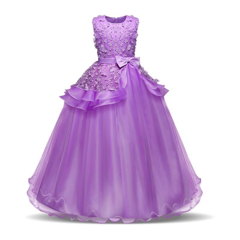 Compre Vestidos De Fiesta Para Niñas Adolescentes Formales 10 12 14 Años Princesa Ropa De Niña Niños Flor De Niña Boda Cumpleaños Disfraz Ropa Para