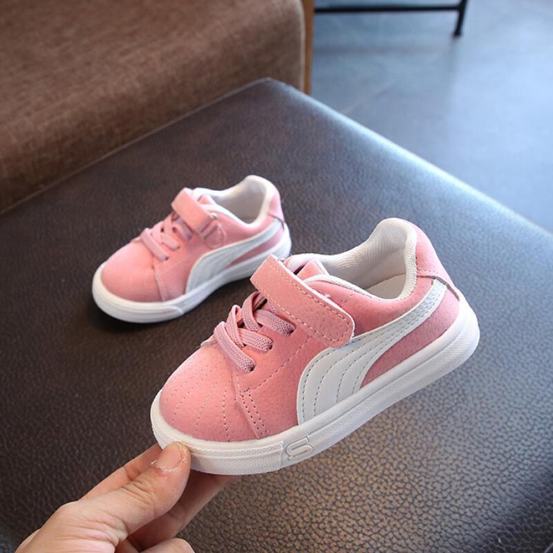 Sapatos SKHEK crianças, para meninas Meninos Crianças malha Sneakers Plano bebê respirável Sport Shoes Meninas Moda Sneakers cinza preto-de-rosa