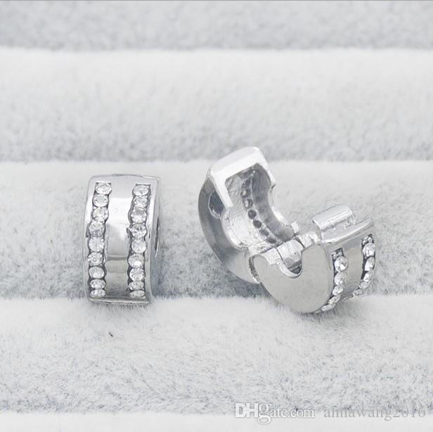 20pcs tibetan silver tone 2sided star moon pattern spacer bead  H0311