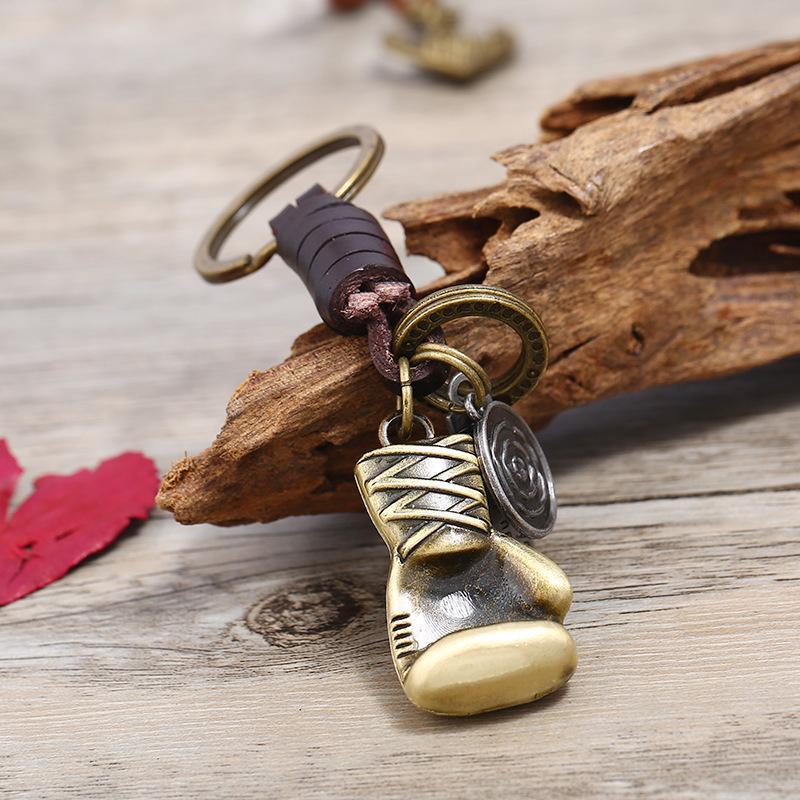 Paar Leder Schlüsselanhänger Boxhandschuh