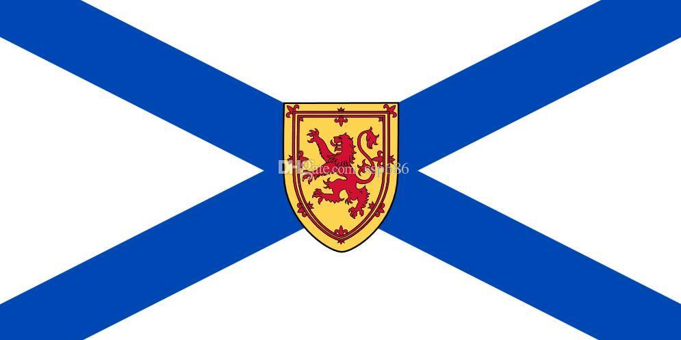 Kanada Flaga Nova Scotia 3ft x 5ft Poliester Banner Latający 150 * 90 cm Niestandardowa flaga na zewnątrz