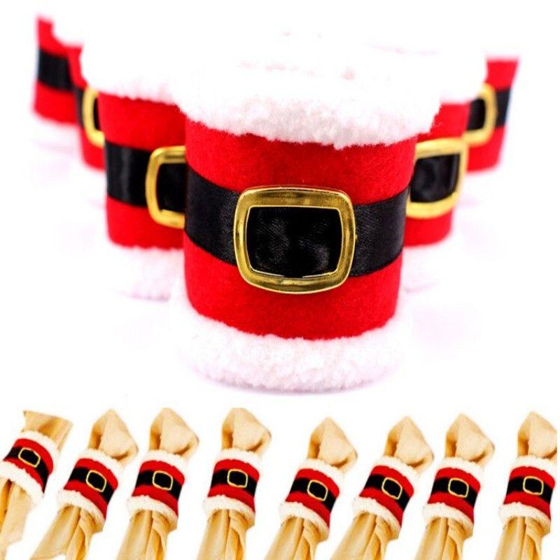 Christmas Santa Napkin Ring Table Decor Napkin Holder for Christmas Hotel holder table decoration xmas Gifts