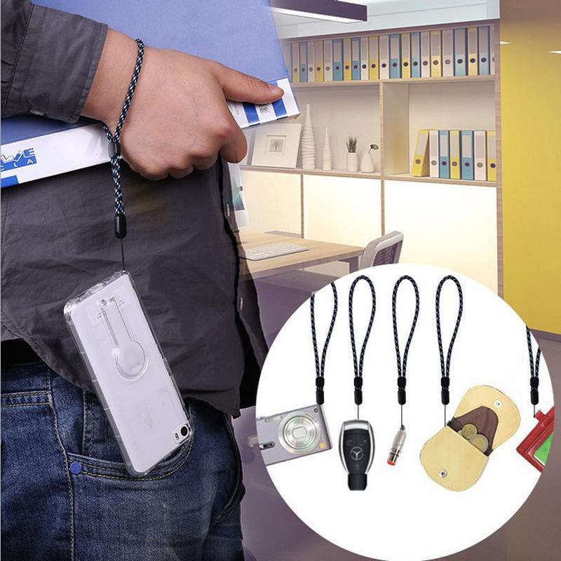 Braided Mobile Phone Strap Universal Hand Wrist Anti-slip Short Lanyard Adjustable Straps For Phone Camera USB Holder MP3 PSP KEY Card