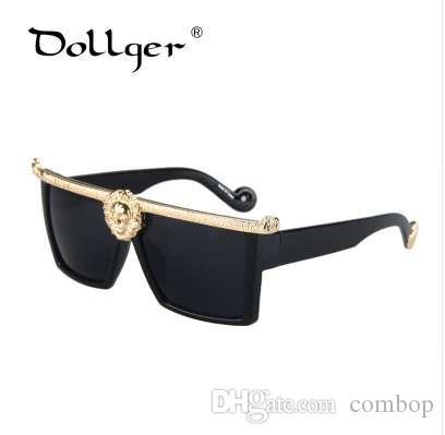 DOLLGER 선글라스 남성 골드 빈티지 태양 안경 여성 안경 프레임 패션 스타일 S1219