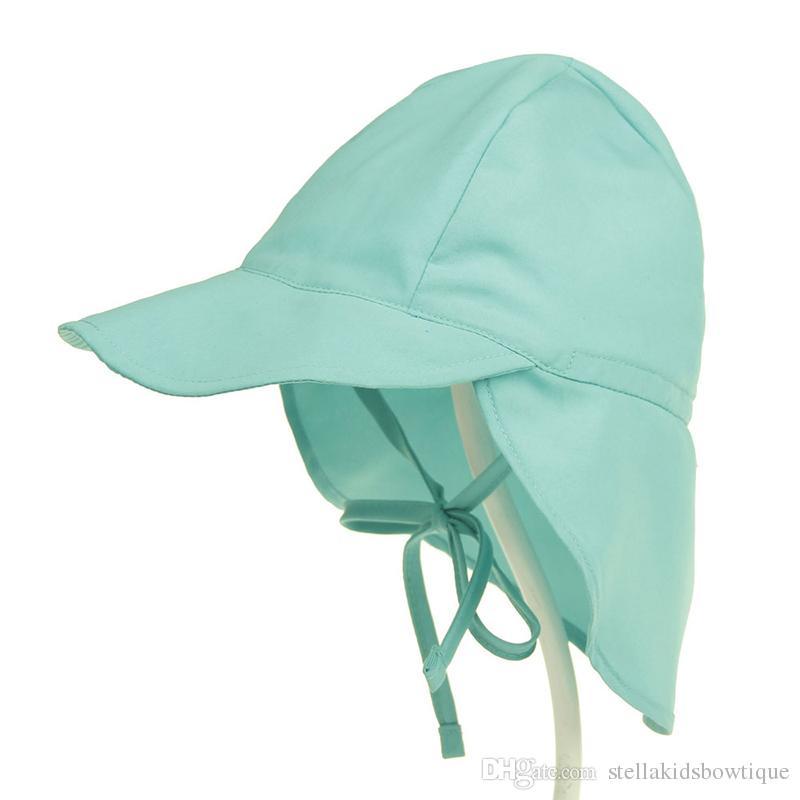 c8e895e8d01c27 ... Children Summer Sun Hat Toddler Baby Hats UPF 50+ UV Protection Beach  Hat Kids Neck ...