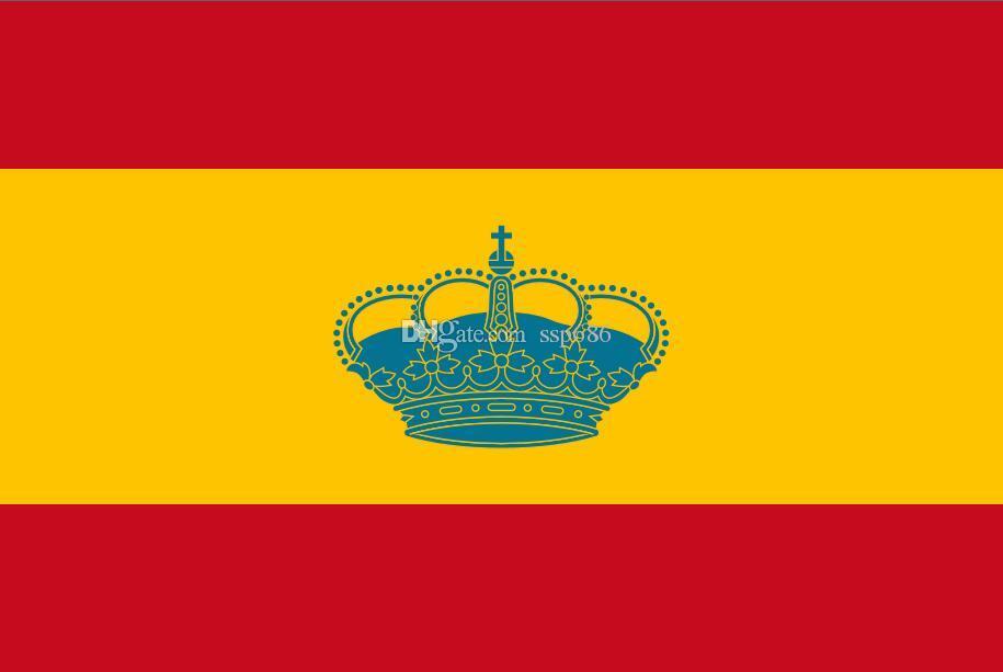 Hiszpania Bandera de Yate Yacht Ensign Flag 3FT X 5FT Poliester Banner Latający 150 * 90 CM Niestandardowa flaga na zewnątrz