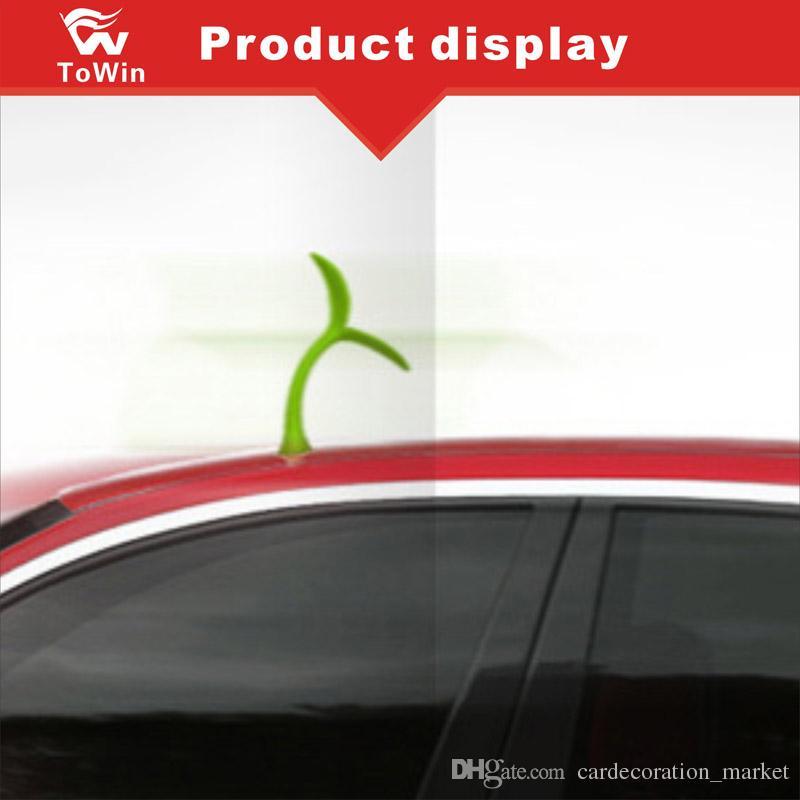 7 Renk 3D Çıkartmalar Araba Dış Dekorasyon Öküz Boynuz Şeytan Boynuzları Anti çarpışma evrensel Araba Styling / Küçük Fidan / Şeytan Boynuz / Moda