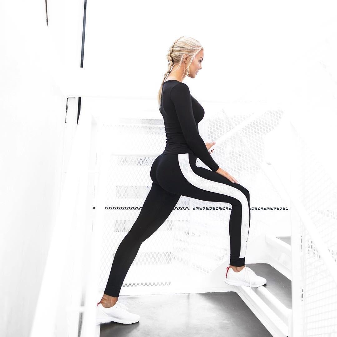 88 Leggings da donna Moda casual commercio estero fast dry barra bianca yoga nove minuti pantaloni yoga pantaloni inferiori donna