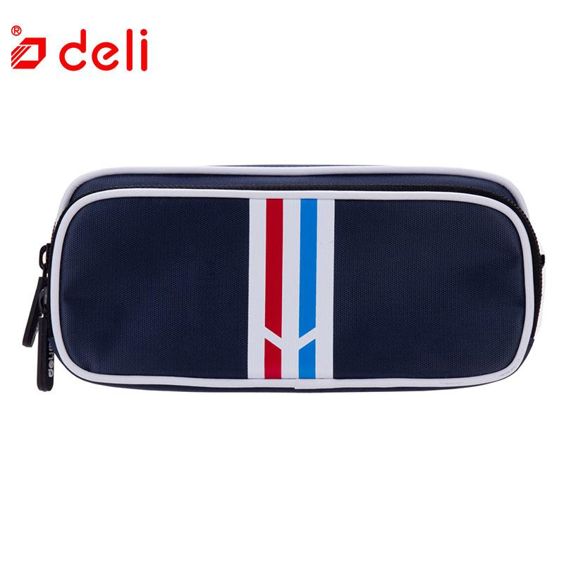 Deli Fashion Pencil Bag School Supplies Stationery Pencil Case 2 Layers Canvas Pen Bag For Kids Student kawaii gift