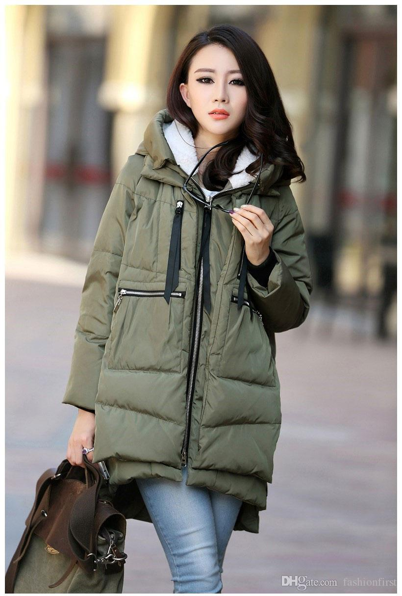 Urban Classics Mens Military Warm Quilted Coat  Hooded Jacket Long Trench Parka