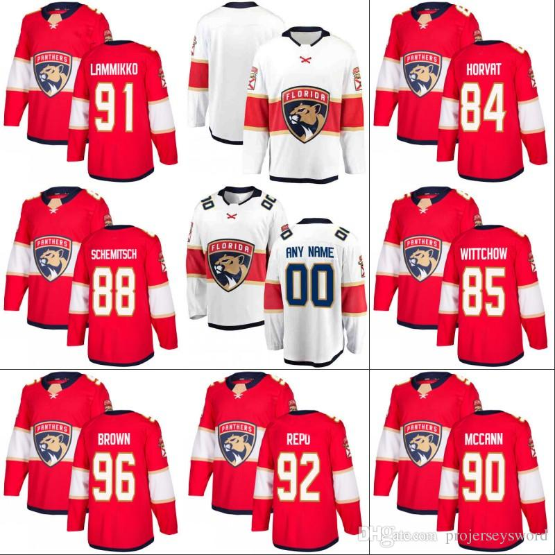2021 #96 Josh Brown Florida Panthers Jersey 84 Ryan Horvat 88 ...