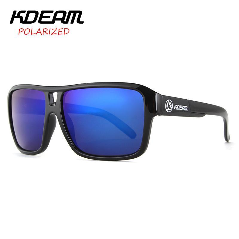KDEAM Gafas Gafas con la caja libre de gafas de sol polarizadas de los hombres a estrenar de los vidrios de conducción luneta De Soleil zonnebril en Deportes KD520-1