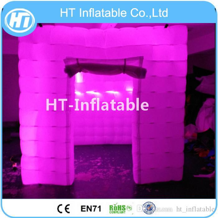 Tenda gonfiabile dell'aria di illuminazione libera di trasporto 2.4x2.4x2.4m LED, tenda cubica gonfiabile per l'evento