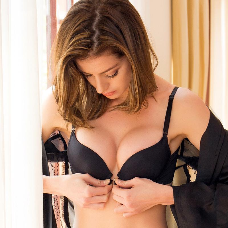 Sexy Raccogliere le donne regolabili Lingerie Super Push Up Bra Brassier Chiusura frontale Chiusura frontale Biancheria intima