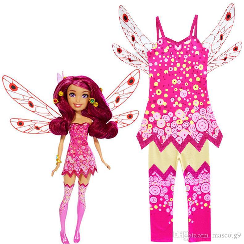 de dibujos animados Mia and Me Yuko .Prince Mo y Mia trajes de cosplay para los niños dan a los niños vestido de fiesta y disfraces de Halloween
