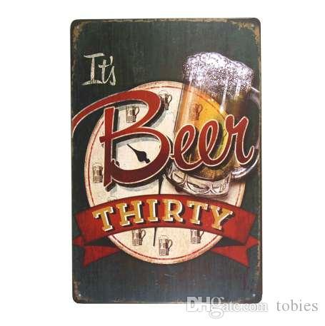 DL- انها البيرة ثلاثين اللوحة المعدنية نادي بار الرئيسية قديم جدار الفن شنقا شعار اللوحة ديكور