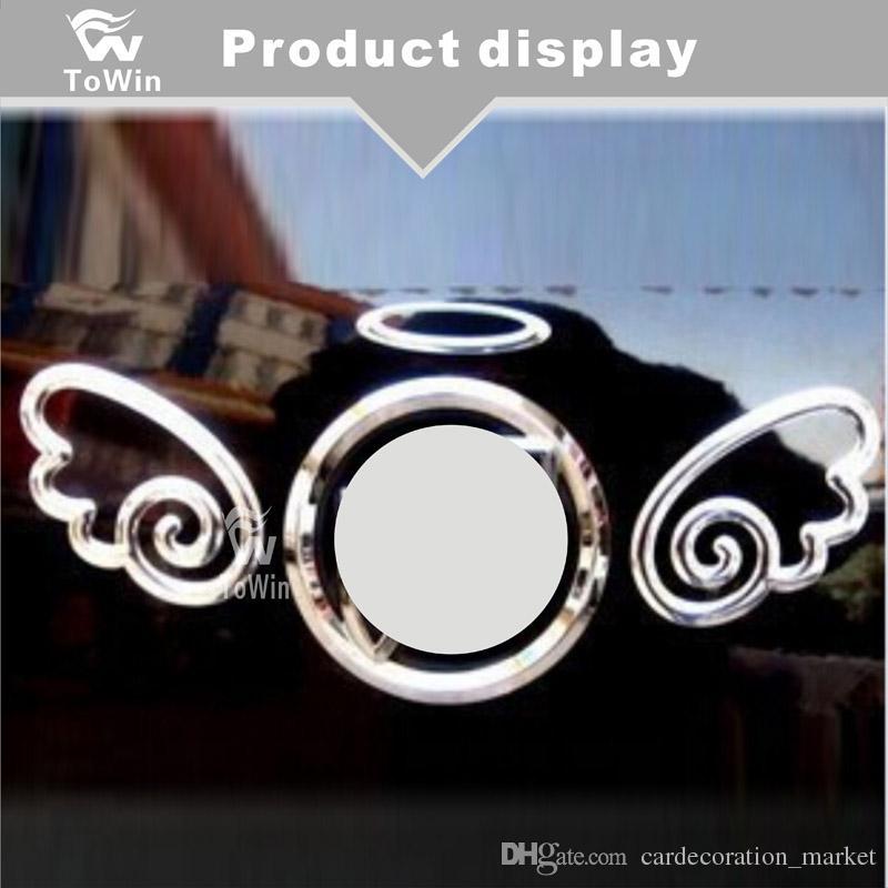 Yeni moda, 3D PVC Melek kanatları Araba Etiketler Çıkartmaları Serin Tampon Çıkartmaları Araba rozeti Amblemler, otomobil parçaları / Araç Aksesuarları.