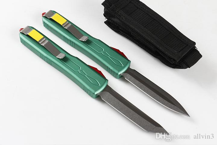 Продвижение MT A6 Auto Tactical Knife D2 Coney Wash Blade T6061 Алюминиевая ручка Открытый EDC Карманные Подарочные Ножи