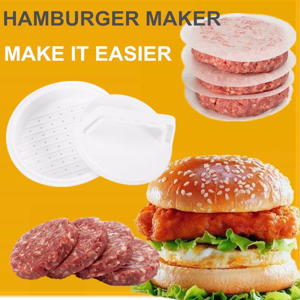 Home Kitchen Dining DIY Plastic Hamburger Meat Compactor Press Mold Grill Burger Maker Kitchen Tools 3912