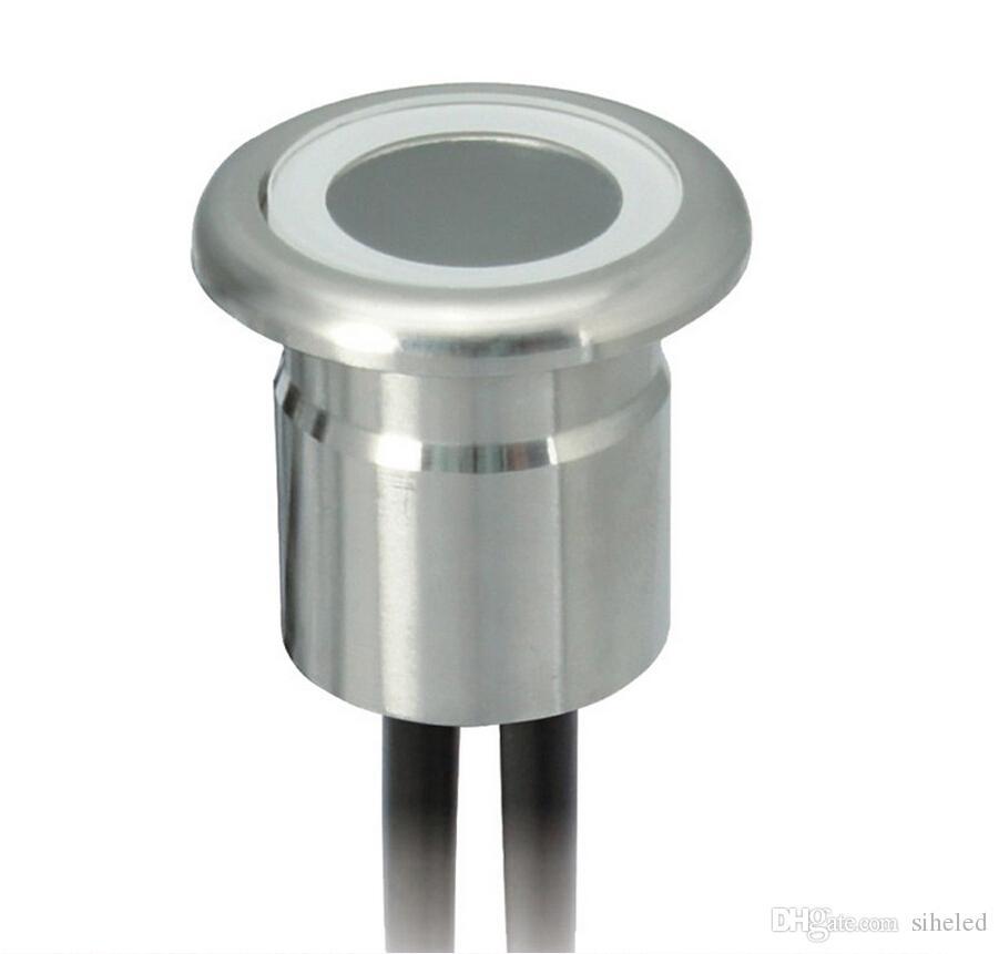Свет 304 нержавеющей стали подземный светильник для напольного украшения IP67 водонепроницаемый DC12V LED палуба шаг освещение выкопали отверстие 22 мм