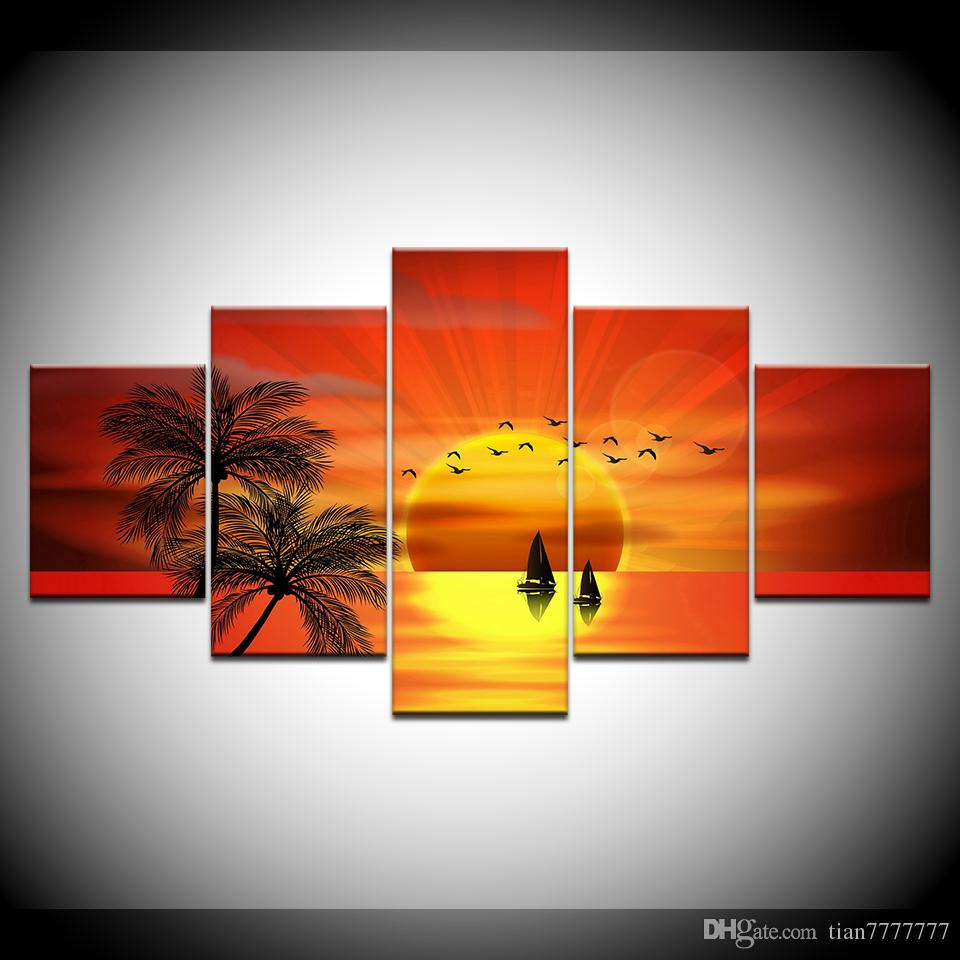 Beautiful sunset  Home Decor Canvas Print choose your size.