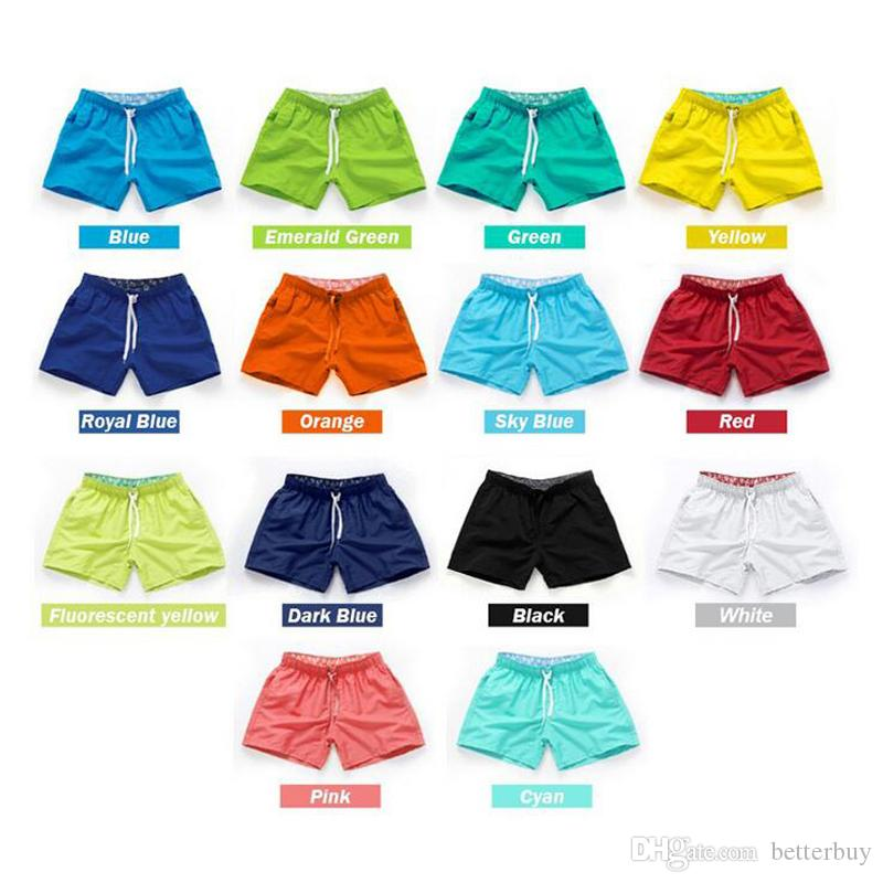 Hot 14 colors Quick Drying Men's Board Shorts Summer Casual Men Shorts Fashion Sexy BeachSurf Shorts for Men Fast Dry Trunks