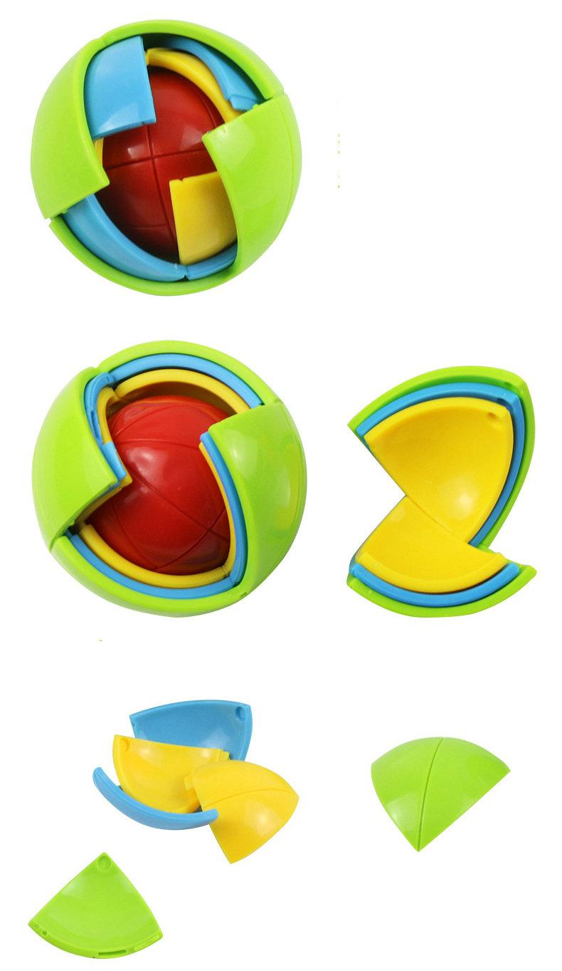 Wisdom Ball 3D Intelligence Magaic Ball Game Puzzle Ball Educational Toys for Kids IQ Training blocks toy smart maze DIY gift 3pcs