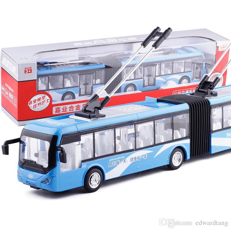 Diecast alaşım çift vagonlar arabası otobüs, çocuk modeli araba oyuncak, ışıklar ses, geri çekilme, 1:48 Ölçekli, süsleme, Noel çocuk doğum günü hediyesi, toplama, 2-1