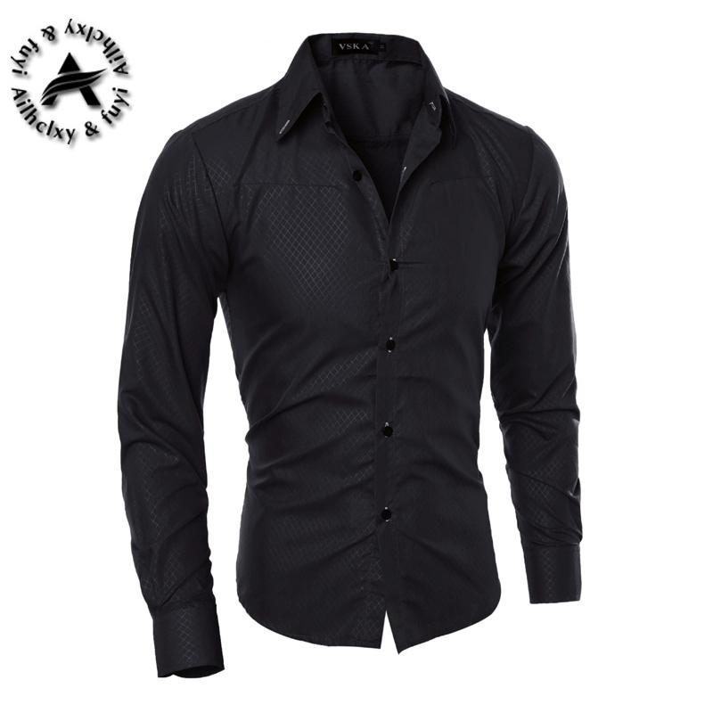 Camicia da uomo di marca all'ingrosso 2016 Top T-shirt da uomo Slim Fit Camicetta manica lunga Moda Uomo Camicie Camicia Trim Cardigan R1574