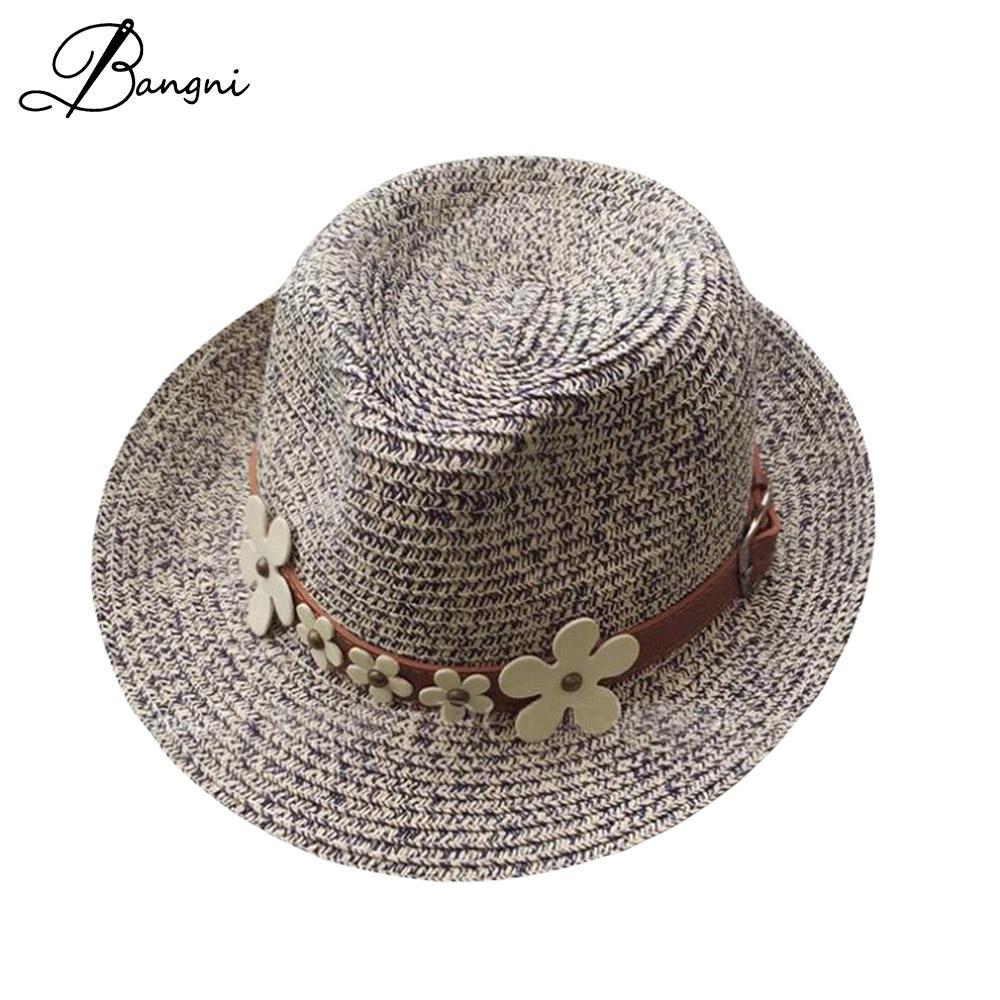 Small Flower Headband Straw Sun Hats Women Wide Brim Beach Cap Summer Sun Visor Hat Panama Jazz Hats,Pink Straw Panama