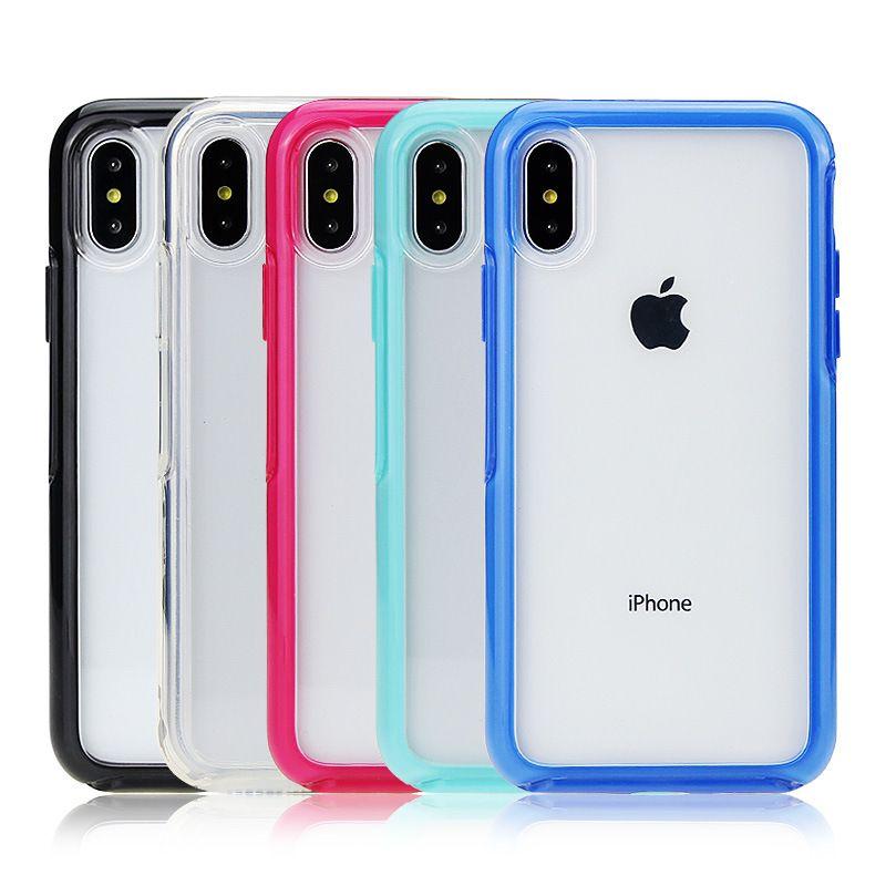iPhone için 11 Pro Max Şeffaf Kılıf Darbeye Sert PC Temizle Telefon Kılıfları Arka Kapak iPhone XR XS 6 7 8 Artı İçin S20