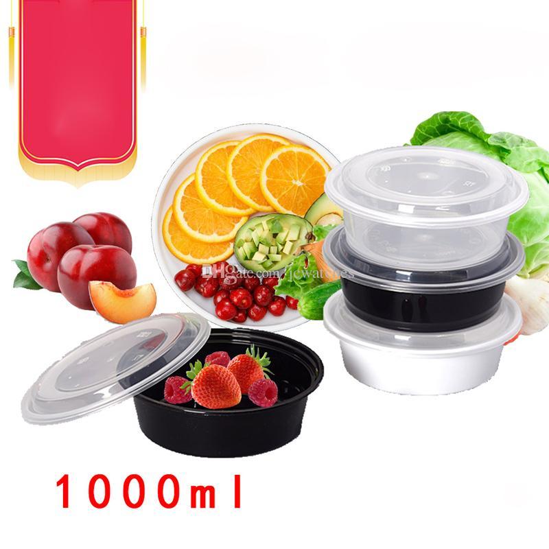 100 мл одноразовые еда Prep контейнеры для пищевых продуктов с крышками микроволновой печи Снэк-коробка вынос коробка пластиковый ланч-бокс для хранения коробки крышка