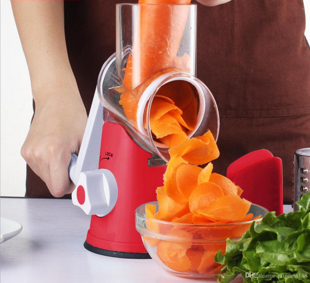 Manual Vegetable Cutter Silicer Grinder Multifunctional Round Mandoline Slicer Potato Cheese Kitchen Gadgets Kitchen Accessories