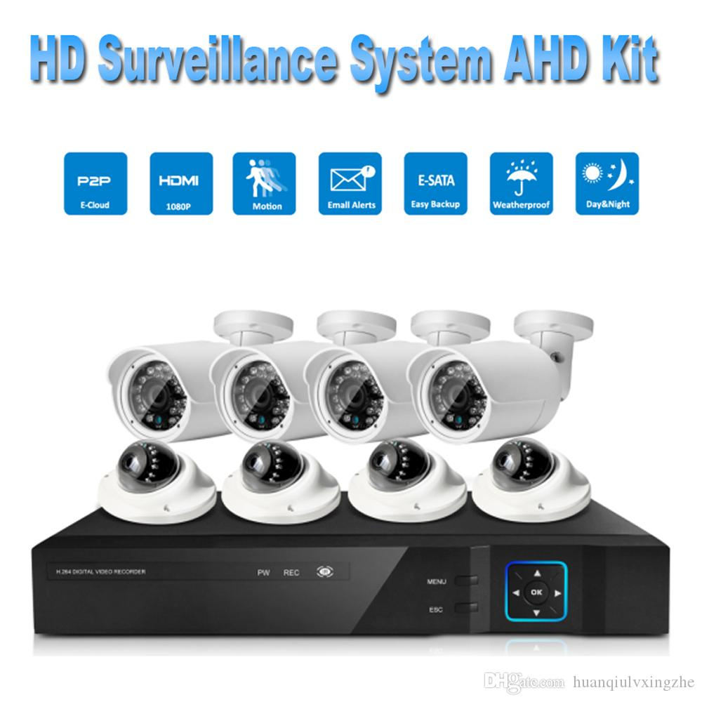 Puaroom 8ch Ip66 Night Vision Ir Cut Ahd Surveillance Cameras H 264 Onvif Video Recording Diy Home Security Systems Security Camera Online Security