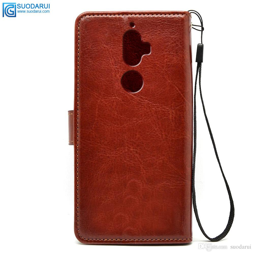 brand new 43da0 8cdde Flip Leather Case For Lenovo K8 Plus TPU + PU Leather Magnetic Book Wallet  Cover Pouch With Lanyard Spigen Cell Phone Cases Tough Cell Phone Cases ...
