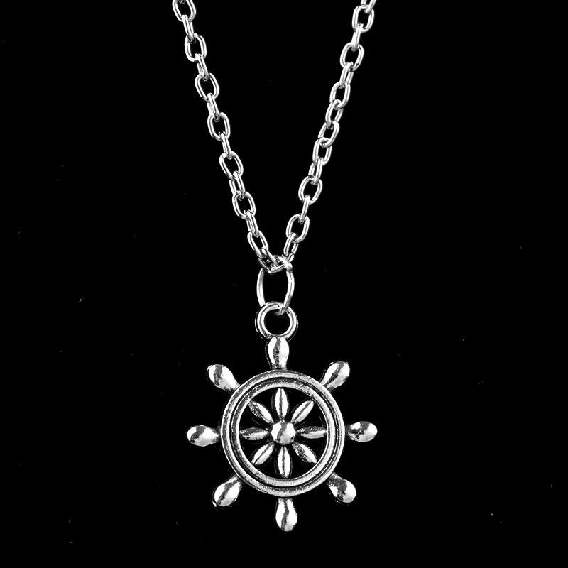 XIAOJINGLING Gioielli in stile Hawaii Collane in argento Lariat nautico Collana girocolli Collana design per le vacanze