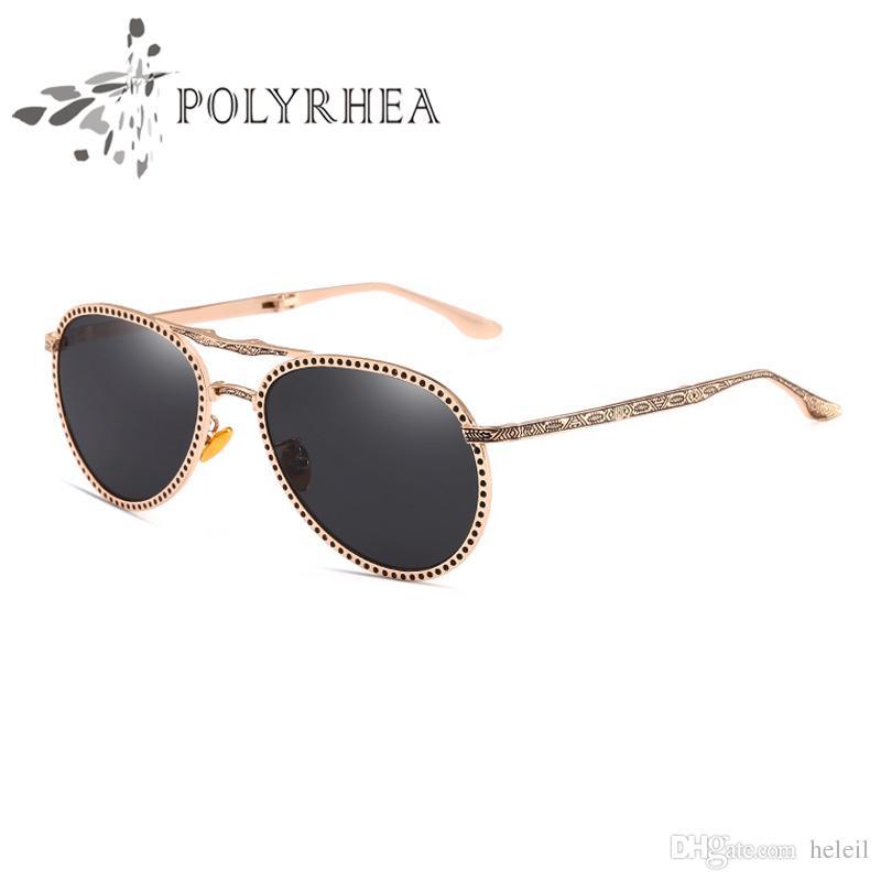 Высокое качество солнцезащитные очки классические солнцезащитные очки женщин Марка дизайнер солнцезащитные очки золото металл розовый серый 50 мм 57 мм стекло линзы коричневый Cas