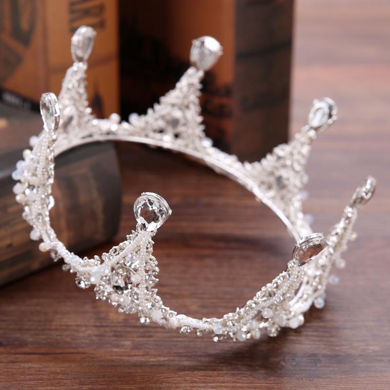 gelin başlıklı Barok daire eli Crown Princess Taç düğün aksesuarları aksesuarları