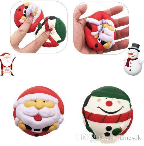 Natal Papai Noel Boneco de neve Squishy Lento Rising Jumbo Pingente Pingente Squeeze Squeeze Bolo Bolo Presente Gaço Fun Toy C321